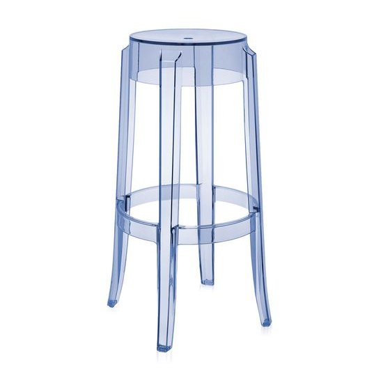 Charles Ghost Barhocker transparent blau (P2)