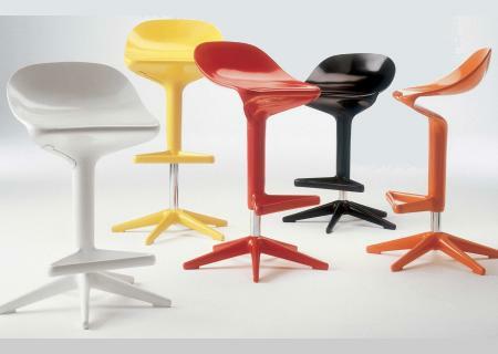 Spoon Barhocker - weiß, gelb, rot, schwarz, orange