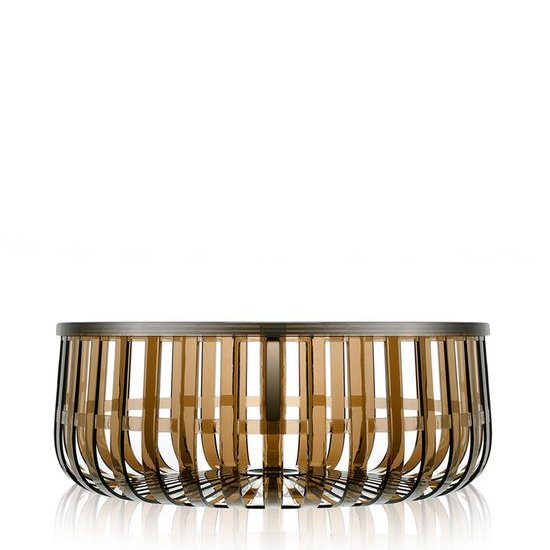 Panier Tisch transparent X7 braun