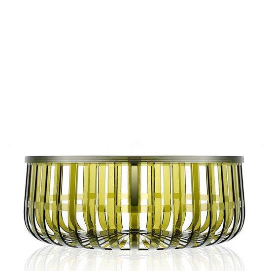 Panier Tisch transparent X5 dunkelgrün