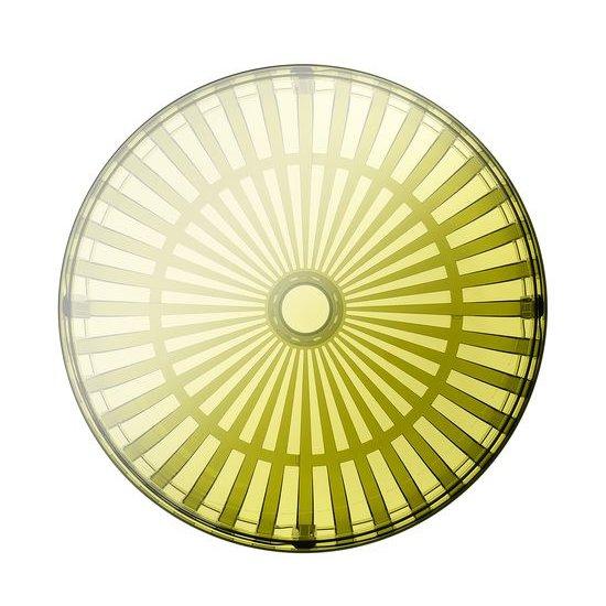 PANIER Couchtisch transparent dunkelgrün von oben