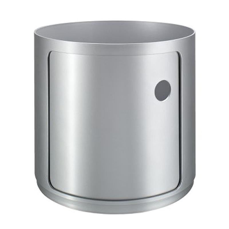 Componibili Stapel-Container, Ø 42 cm, Höhe 38.5 cm 1 Element silber