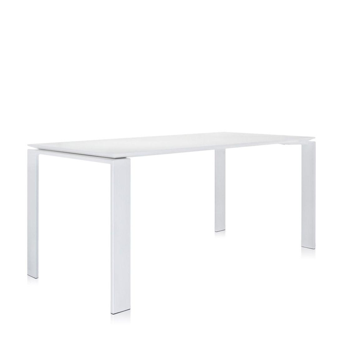Four Tisch 158 Beine weiß / Platte weiß