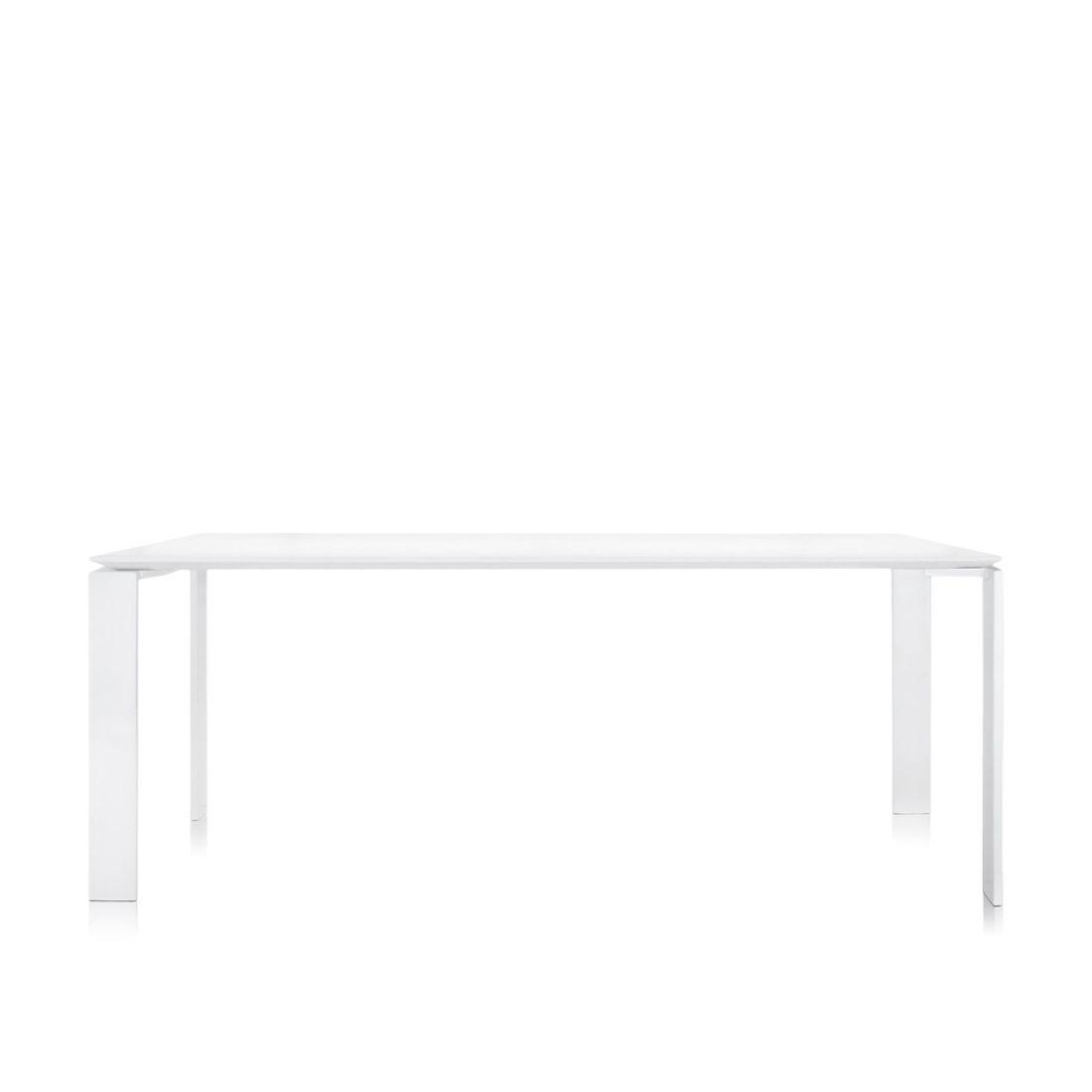 Four Tisch 190 Beine weiß / Platte weiß