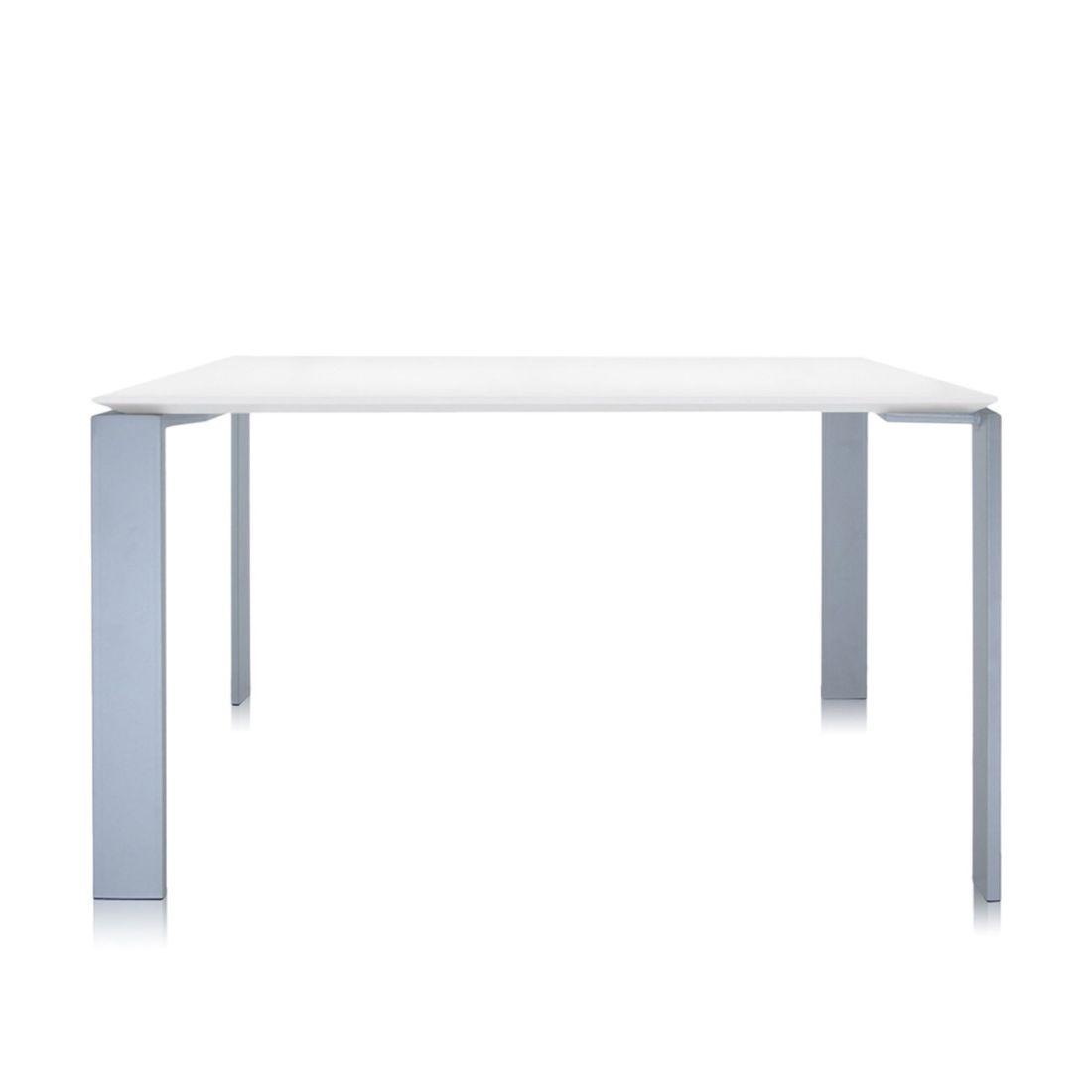 Four Tisch 223 Beine alu, Platte weiß