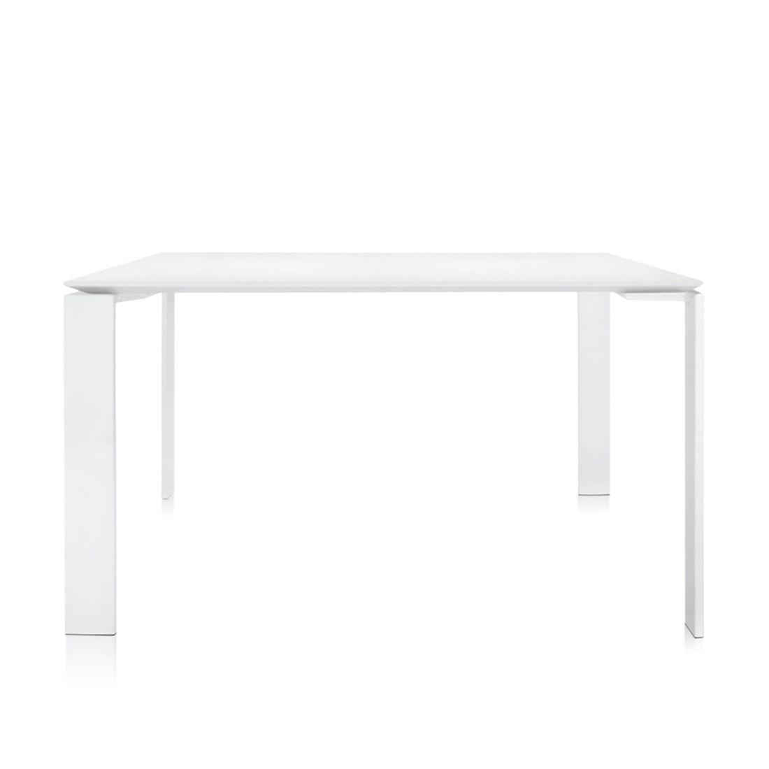 Four Tisch 128 x 128 Beine weiß / Platte weiß