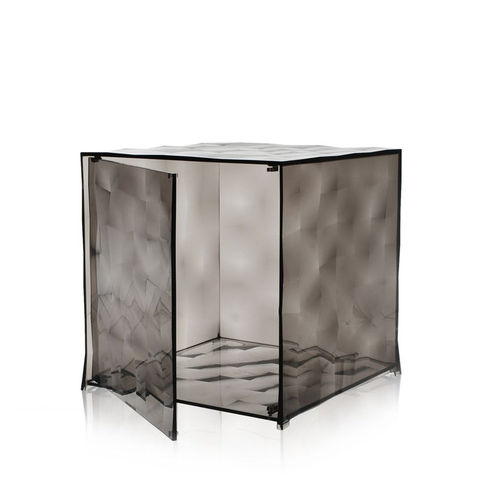 OPTIC Container mit Tür fumé/rauchfarben transparent