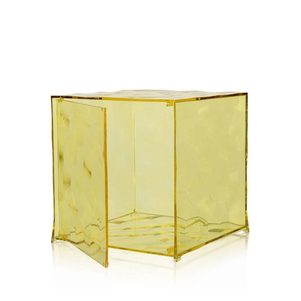Optic Container mit Tür gelb transparent