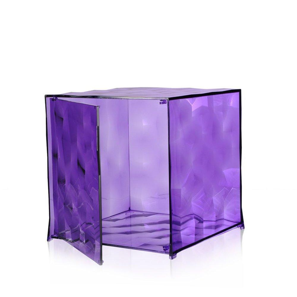 OPTIC Container mit Tür violett transparent