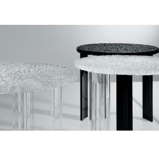 T-Table Beistelltisch kristallklar und schwarz