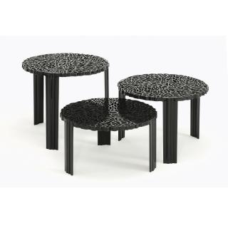 T-Table Beistelltisch undurchsichtig schwarz alle Größen