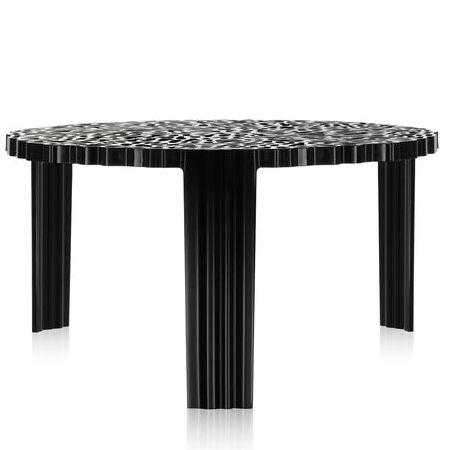 T-Table Couchtisch Höhe 28 cm undurchsichtig schwarz