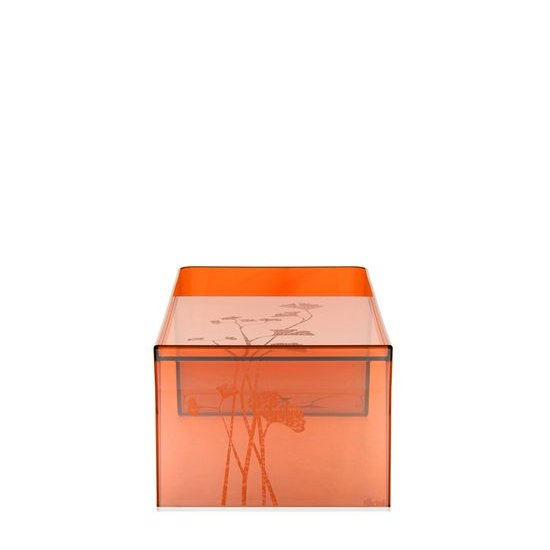Usame Couchtisch orange transparent