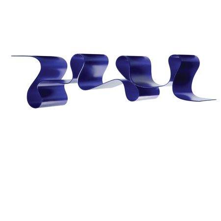 Lovely Rita Bücherregal blau, Seitenansicht