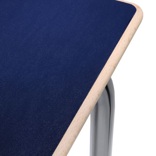 Maui Esstisch 80 x 80 cm, marineblau, Holzkante