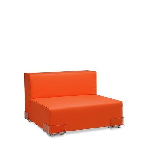 Plastics Sitzelement ohne Armlehne orange