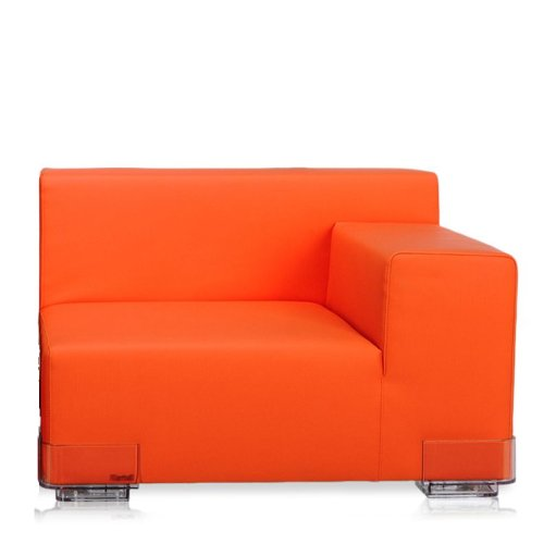 Plastics Sitzelement Armlehne rechts orange