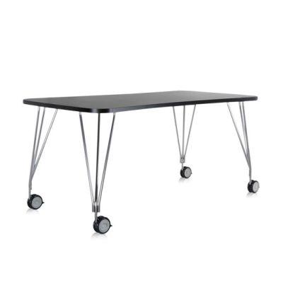 MAX Tisch mit Rollen, 180 x 60 cm, schiefergrau