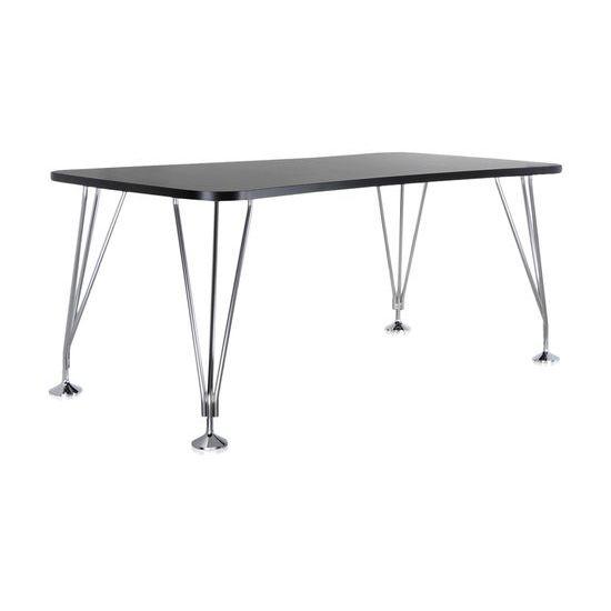 MAX Tisch mit Füßen, 180 x 60 cm, schiefergrau Seitenansicht
