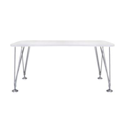 Max Esstisch/Schreibtisch mit Füssen 160/80 zinkweiß