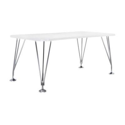 MAX Tisch mit Füßen, 180 x 60 cm, zinkweiß