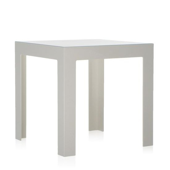 Jolly Beistelltisch undurchsichtig weiß glänzend E5