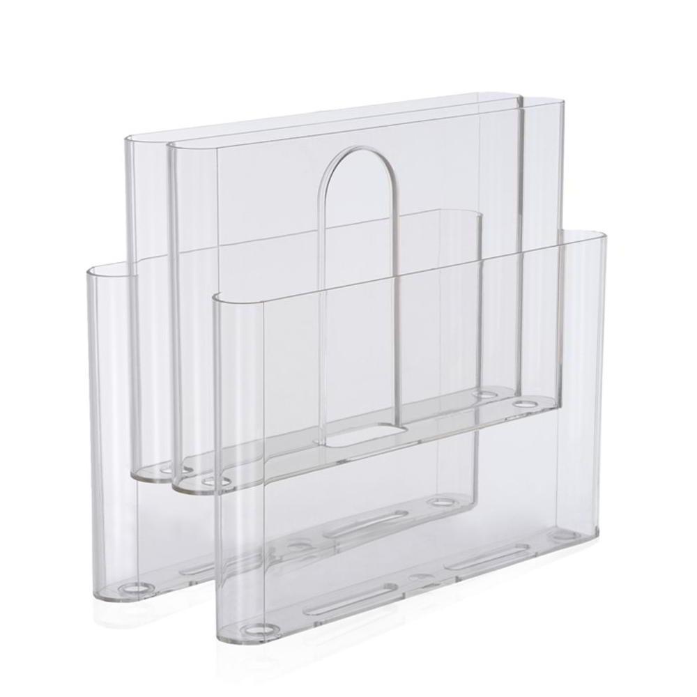 Stoppino Zeitungsständer mit 4 Taschen transparent klar