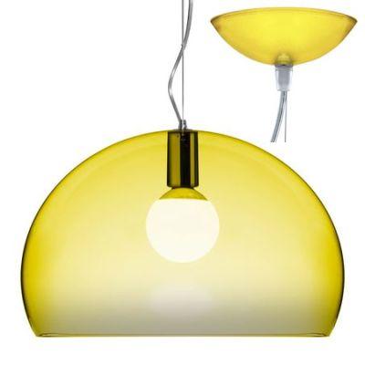 Fl/y Icon Pendelleuchte transparent K6 gelb