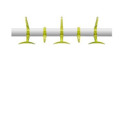 Hanger Wandgarderobe 60 cm zitronengelb, transparent