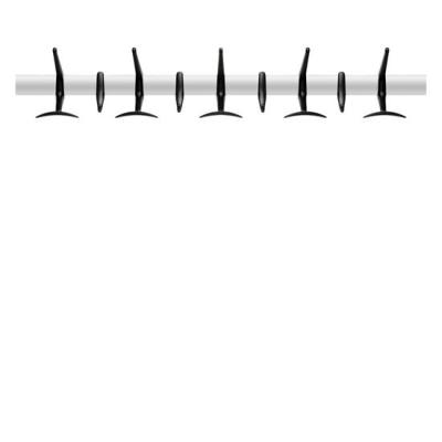 Hanger Wandgarderobe 90 cm schwarz, matt