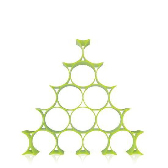INFINITY Flaschenregal gelbgrün
