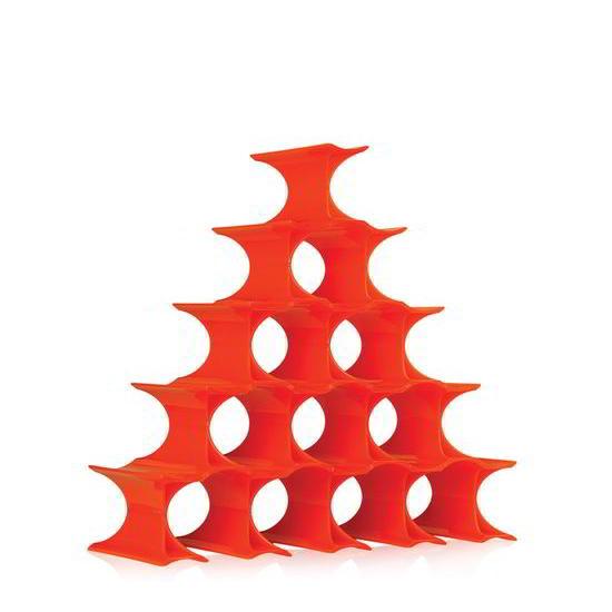 Infinity Flaschenregal orange