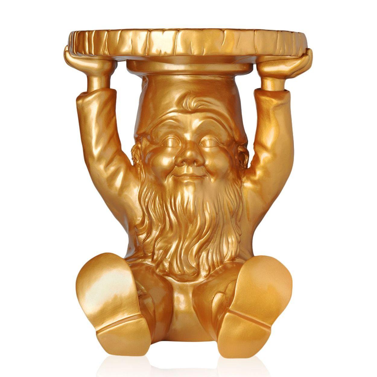 Attila Beistelltisch gold