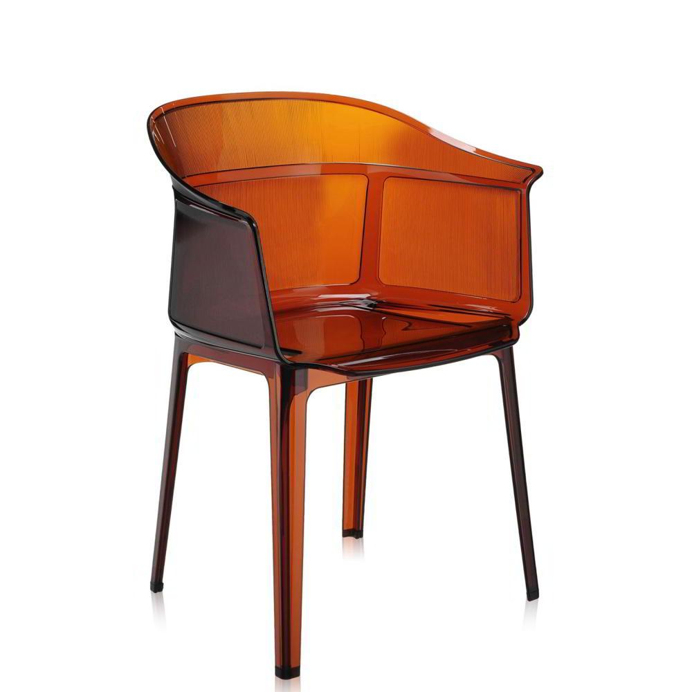 PAPYRUS Sessel 2er-Set, stapelbar, transparent bernsteinfarben (Z2)