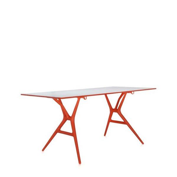 SPOON Table Klapptisch 160 Gestell orange / Platte weiß