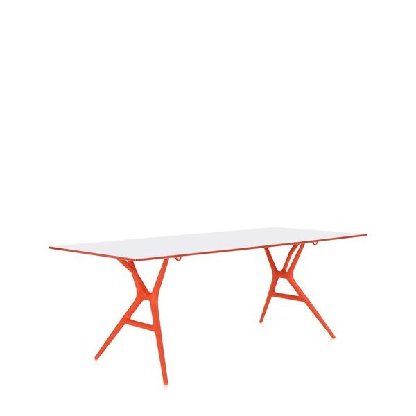 SPOON Table Klapptisch 200 Gestell orange / Platte weiß