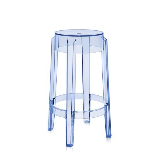 Charles Ghost Tresenhocker transparent blau (P2)