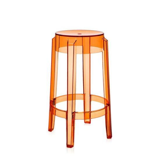 Charles Ghost Tresenhocker transparent orange (E3)