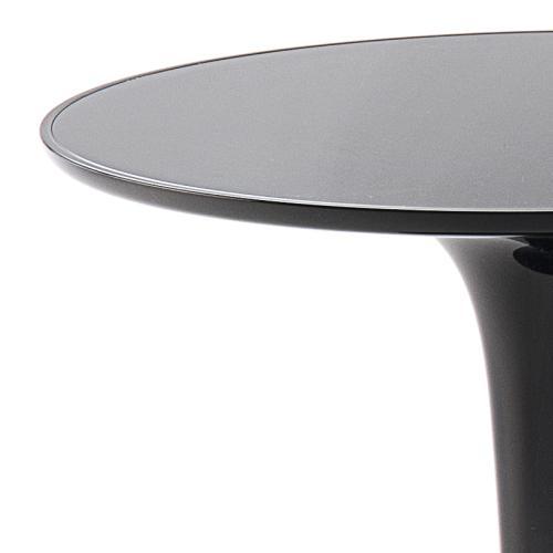 TipTop Mono Beistelltisch schwarz, Detail Tischplatte