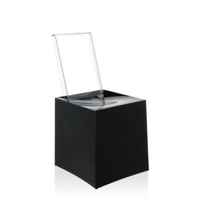 Miss Less Stuhl von Philipe Starck, schwarz - transparent