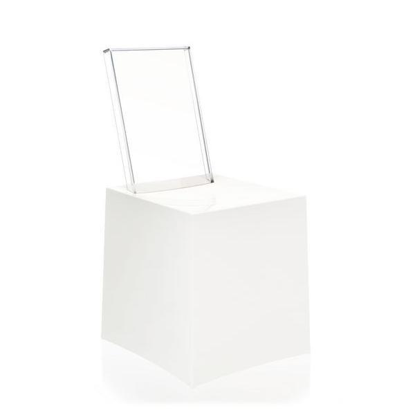 Miss Less Stuhl von Philipe Starck, weiß - transparent