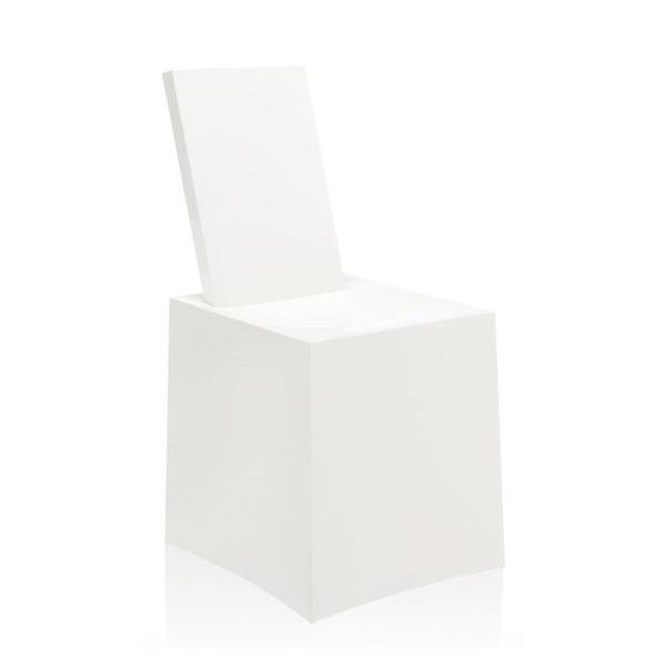 Miss Less Stuhl von Philipe Starck, komplett weiß