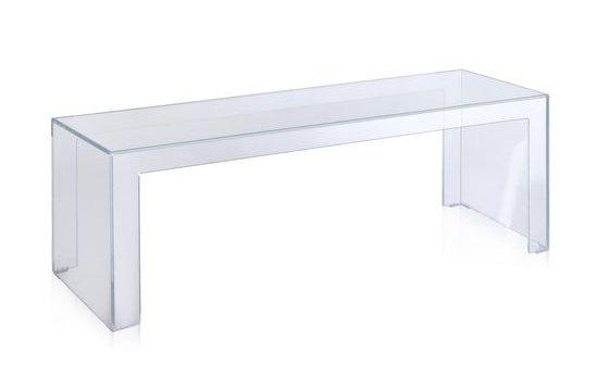 Invisible Side Couchtisch, Höhe 40 cm Transparent Glasklar