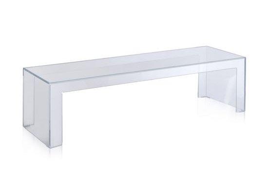 Invisible Side Couchtisch, Höhe 31.5 cm Transparent Glasklar