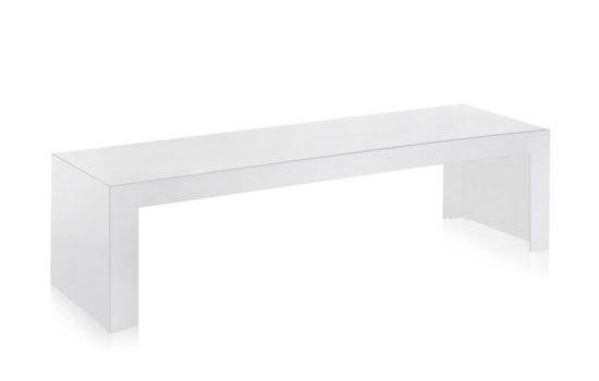 Invisible Side Couchtisch, Höhe 31.5 cm deckend glänzendes Weiß