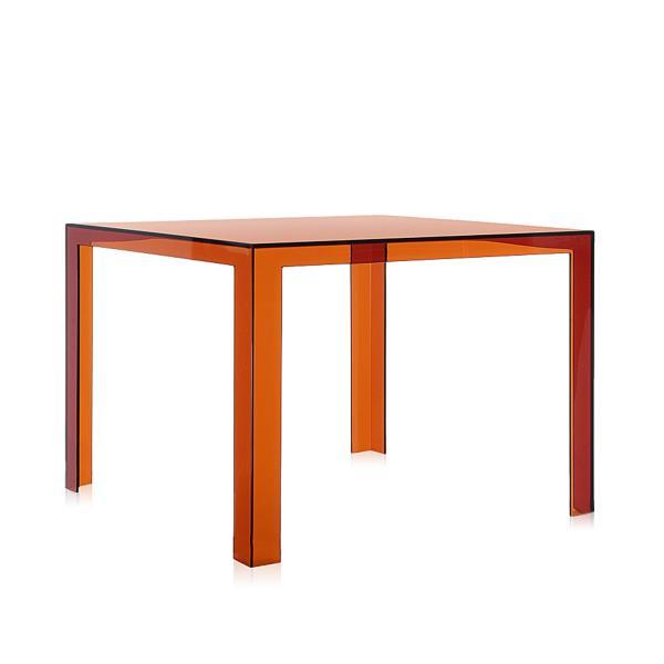 Invisible Table Esstisch bernsteinfarben transparent