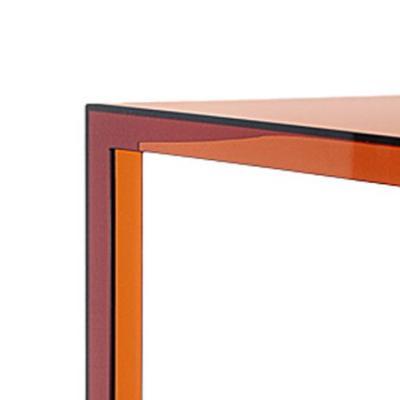 Invisible Table Esstisch bernsteinfarben, Detail