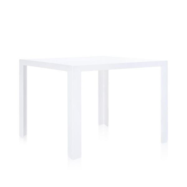 Invisible Table Esstisch undurchsichtig weiß