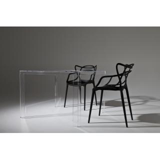 Invisible Table Esstisch glasklar mit Master-Stühlen