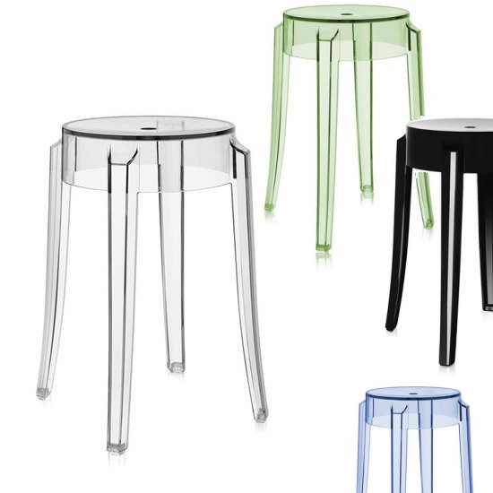 charles ghost hocker von kartell m bel bei. Black Bedroom Furniture Sets. Home Design Ideas